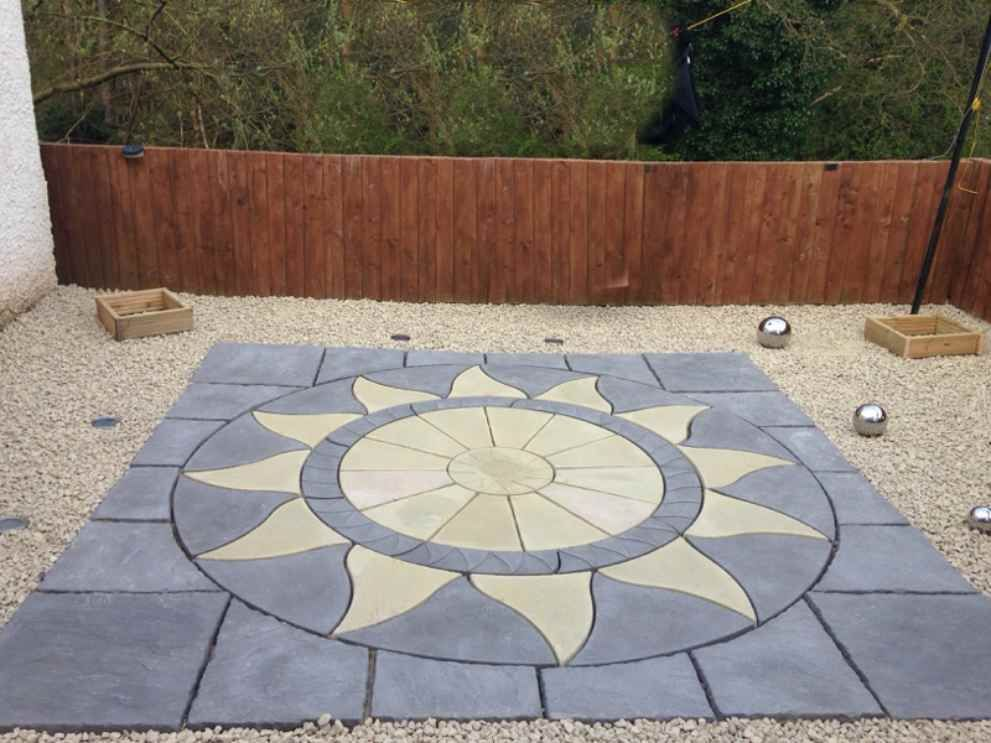 3m x 3m Aztec Sun Patio Kit Slate Grey /Buff