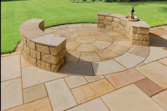 Fossill Sandstone Patio Pack Random Sizes