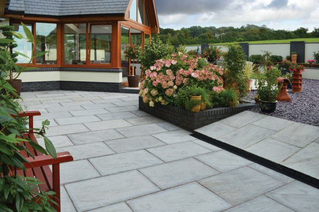 Light Grey Sandstone Patio Pack Mixed Sizes